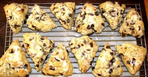Breakfast Cherry Scones with Almonds