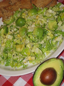 Caesar Salad with Avocado and Rustic Chips