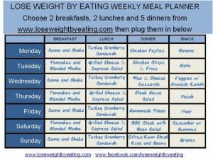 1200 Calorie Meal Planner