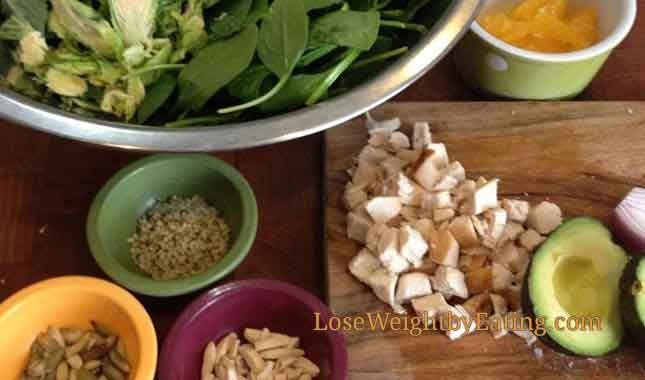 Detox Diet Salad - Chopped Big Bowl